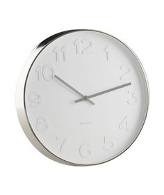 Embossed Numbers Wall Clock