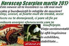 Horoscop martie 2017  Scorpion Scorpion, Astrology, Scorpio