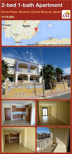 2-bed 1-bath Apartment in Dona Pepa, Alicante (Costa Blanca), Spain ►€119,950 #PropertyForSaleInSpain