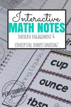 Common Core Math: How to Start Interactive Math Notebooks - Performing in Education Interactive Math Journals, Math Notebooks, Interactive Board, Math College, Fifth Grade Math, Fourth Grade, Math Notes, Homeschool Math, Homeschooling