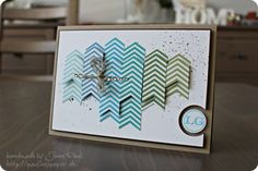 Creative use of the Chevron stamp, then cut out the images as you like them!
