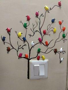 DIY Pista Shell Vogel für Wanddekoration - Diy and Crafts Art Diy, Diy Wall Art, Diy Wall Decor, Diy Home Decor, Decoration Crafts, Bird Decorations, Art N Craft, Diy Home Crafts, Crafts For Kids
