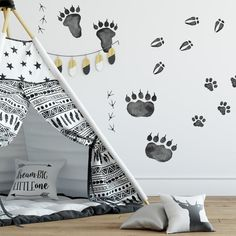 Animal Tracks Peel and Stick Wall Decals