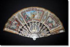 Le cadeau de fiançailles, éventail vers 1780 - Catalogue Eventails XVIIIème - Fan déventails
