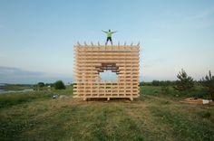 totan cuboed pavilion russia yasnopole designboom