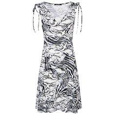 Buy Betty Barclay Snake Print Dress, Black/White Online at johnlewis.com