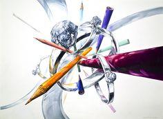 기초디자인 - 다이아반지/색연필
