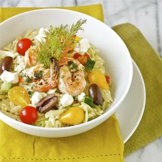 Greek Orzo Salad with Mustard-Dill Vinaigrette
