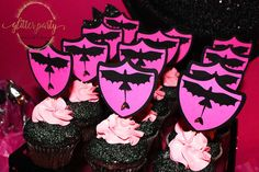 Cupcakes at a How To Train Your Dragon princess birthday party! See more party ideas at CatchMyParty.com!