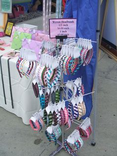 craft show booth hair accessories - Bing Images