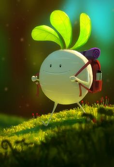 little camping radish by gore fujita. found on catchoo cutie pie blog.  http://www.catchooandcompany.com