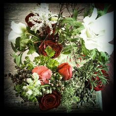 mixed herbs and flowers. |by Flower Jar