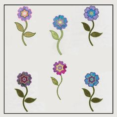 Designed by Diana Vogt and Anne Vane of V-Stitch Designs. Flowers are in bloom again! The GO! Round Flower embroidery designs are designed to be used with the AccuQuilt GO! Round Flower (55007).You get 6 designs in this set.
