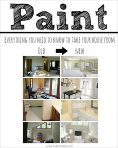 How To Paint Trim - a full tutorial on this blog that walks you through how to do it on your own. Amazing way to update older homes! A MUST PIN!