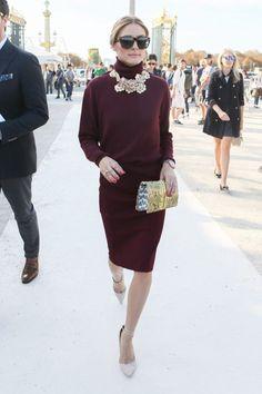 Kraljica jednostavnosti: Olivia Palermo u savršenoj bordo kombinaciji - Elle