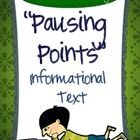 """The CCSS requires that we greatly increase the amount of work we do with informational text.  This """"Pausing Point"""" resource can help!  Whether you ..."""