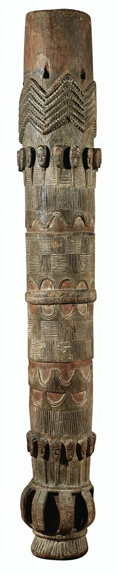 Africa | Drum from the Baule people of the Ivory Coast | Wood | ca. Mid 20th century