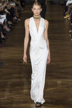 Lanvin - A plunging neckline and subtle ruching is all but guaranteed to turn heads (and break hearts).