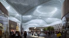 New images of world's largest airport terminal under a single roof, in Istanbul, released by the designer Grimshaw. Images © Grimshaw The new one million square… Istanbul New Airport, Istanbul Travel, Concept Architecture, Contemporary Architecture, Architecture Design, Art Nouveau, Airport Design, Architecture Visualization, International Airport