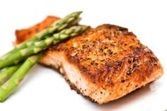 Gluten-Free Wild Salmon with Rosemary Sweet Potatoes and Lemon Asparagus
