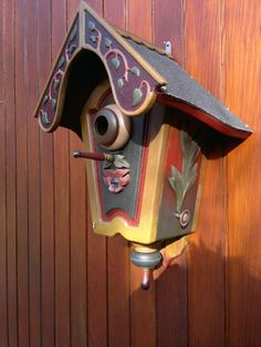 Hand painted bird house by BirdHousingMinistry on Etsy from Germany