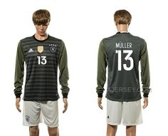 http://www.xjersey.com/germany-13-muller-away-youth-euro-2016-long-sleeve-jersey.html GERMANY 13 MULLER AWAY YOUTH EURO 2016 LONG SLEEVE JERSEY Only 33.11€ , Free Shipping!
