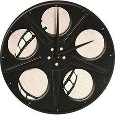 Movie Reel Clock with Wood ...