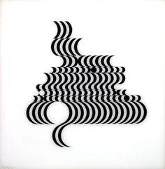 bridget riley, 'fragments' screen print, 1965