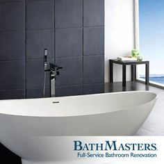 Kohler's catalog of beautiful freestanding bathtubs is available at BathMasters. Isn't this one lovely?