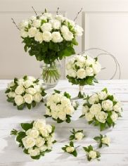 Buy on-line  White wedding luxury rose Collection http://www.weddingheart.co.uk/marks-and-spencer---wedding-flowers.html