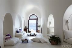 This stunning Santorini home is the ultimate Grecian dream. From Elle Decor