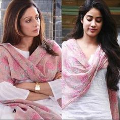 Janhvi Kapoor spotted wearing her late legendary mothers dupatta as she steps out in the city, a parents loss is surely irreplaceable 💔 Casual Indian Fashion, Indian Fashion Dresses, Indian Outfits, Modest Fashion, Indian Clothes, Kenzo, Baby Lernen, Ted Baker, Diy Fashion Projects