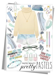 So Sweet: Pastel Sweaters by igiulia on Polyvore featuring ADAM, Current/Elliott, Vans, Ippolita, Alice Cicolini, Wolf & Moon, EyeBuyDirect.com, Moschino, Nails Inc. and Drybar