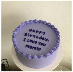 Pretty Birthday Cakes, Pretty Cakes, Beautiful Cakes, Cake Birthday, Happy Birthday, Birthday Cake For Brother, Round Birthday Cakes, Mini Cakes, Cupcake Cakes