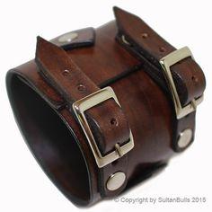 JOHNNY DEPP style leather bracelet genuine por LeatherBraceletStore