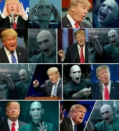 Is Donald trump, Lord Voldemort? Harry Potter Wattpad, Harry Potter Puns, Harry Potter Drawings, Harry Potter Theme, Harry Potter World, Hogwarts, Harry Potter Funny Pictures, Donald Trump, Funny Memes