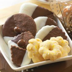 @Midwest Living Classic Christmas Cookies- Chocolatey Shortbread Bites and Lemony Spritz Cookies
