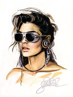PORTRAITS I ‹ jessicaraesommer.com woman sunglasses fashion illustration