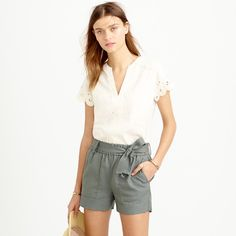 Drapey belted pull-on short