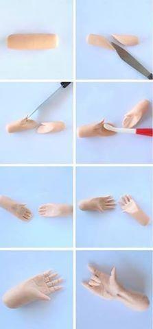 Sculpting doll hands