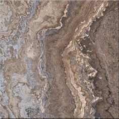 Polished Italian Persian Silver Travertine brown and silver marble tiles and slabs