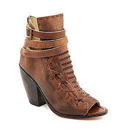 91eac1f07a0a43 Freebird Eagle PeepToe Booties  Dillards Peep Toe Ankle Boots