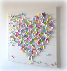 Modern 3D Butterfly Wall Art Sweet Candy Wall Hanging by RonandNoy