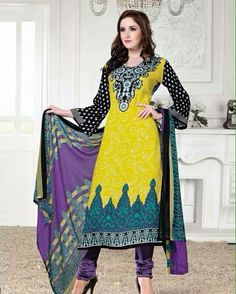 #indian #salwarkameez #cotton #indianwear #pakistan #pakistanwear #traditional #ethnic #yellow #printed #collection #instashop   Unstitched Dress Material  Details - Top - Pure Cotton  Bottom - Cotton Dupatta - Chiffon  Rs 699/-