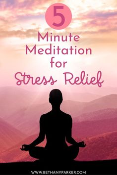 5 Minute Meditation for Stress Relief 5 Minute Meditation, Stress Relief Meditation, Stress Relief Tips, Meditation Exercises, Meditation For Beginners, Meditation Techniques, Mindfulness Practice, Mindfulness Meditation, Ways To Reduce Stress