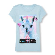 The Children's Place offers a variety of girls t-shirts that are designed to be comfy and stylish. Shop the PLACE where big fashion meets little prices! Big Fashion, Short Girls, Snapchat, Unicorn, Graphic Tees, Glitter, Comfy, Selfie, Kids