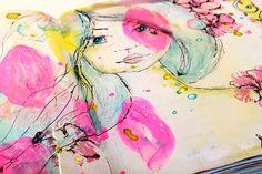 ArtJournal process - proceso página ArtJournal paso a paso de Cinderella ( Bienve Prieto ) When I See You, Videos, Watercolor Paintings, Mixed Media, Kawaii, Scrapbook, Cinderella, Wattpad, Art