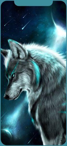 Fondos Lobos 🐺 shared by MC on We Heart It Artwork Lobo, Wolf Artwork, Beautiful Wolves, Animals Beautiful, Cute Animals, Wolf Love, Bad Wolf, Anime Wolf, Wolf Painting