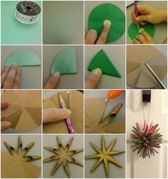 DIY Polish Star Christmas Ornaments