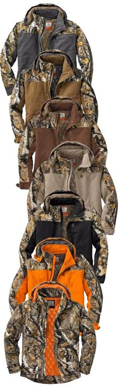 Big Game Camo Canvas Workwear Jacket | Legendary Whitetails. Looking For The Best Hunting Guns, Hunting Gear, and Hunting Storage For Your Next Season?  We Cover Deer Hunting, Duck Hunting, Elk, Turkey And Pheasant Hunts.  This Board Covers Lists, Photos, Accessories, And Homemade DIY Options For Mens And Womens Hunting Gear, Tactical Gear, And How To Use Your Backpack And Organize Your Gear.